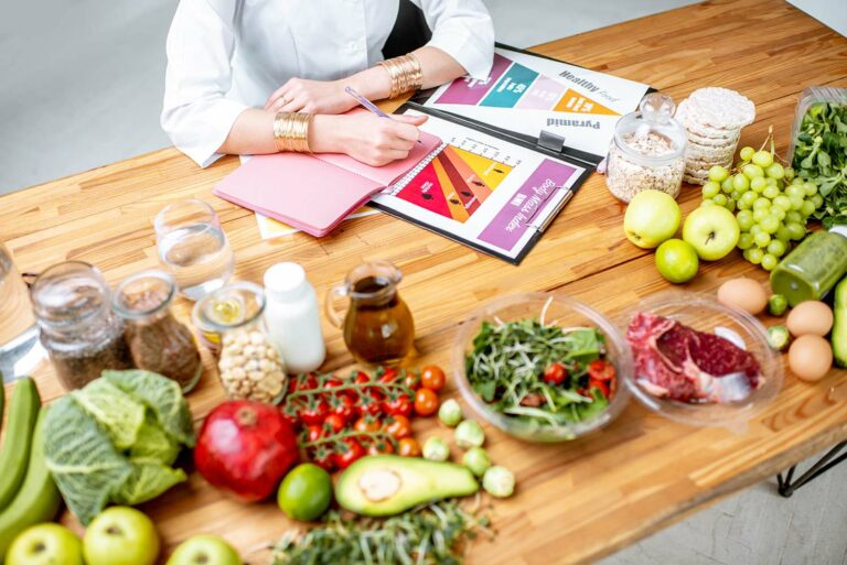 Tisch mit Gemüse
