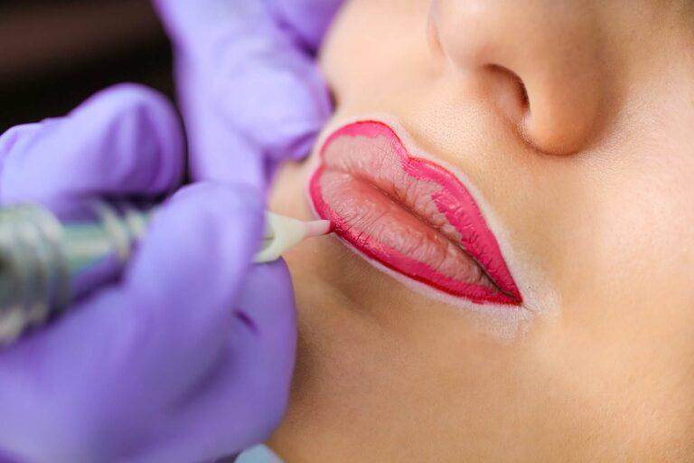 permanente rosa Lippen